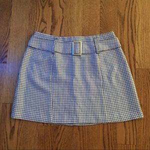 Plaid Vintage Belted Mod Style 90s Mini Skirt